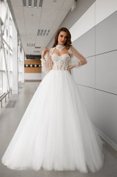 Wedding dresses Lorelay Collection  Gloss  Silhouette  Ball Gown  Color  Ivory  Neckline  Sweetheart  Sleeves  Sleeveless  Train  With train - foto 3