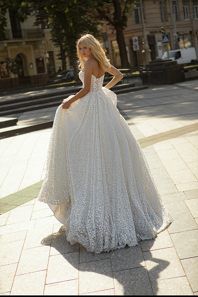 Wedding dresses Amandine Collection  City Passion  Silhouette  A Line  Color  Ivory  Neckline  Sweetheart  Sleeves  Sleeveless  Train  With train - foto 4