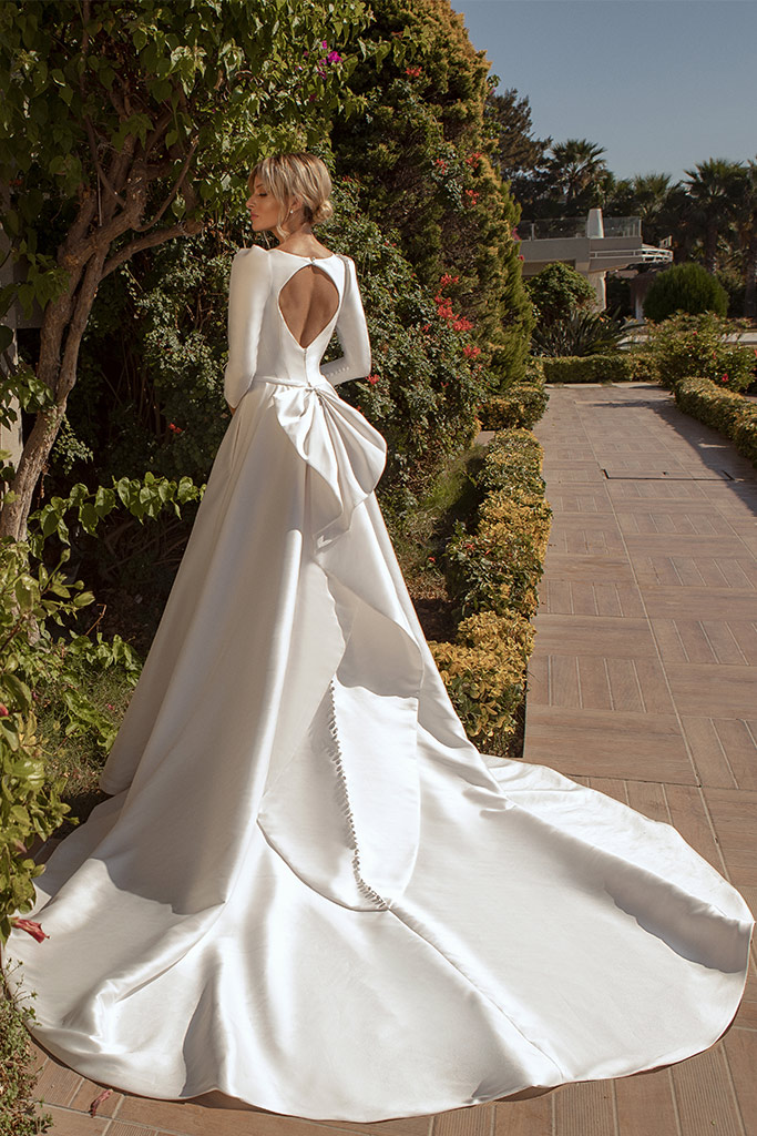 Wedding dresses Lenny Silhouette  A Line  Color  Ivory  Sleeves  Long Sleeves  Train  With train - foto 3