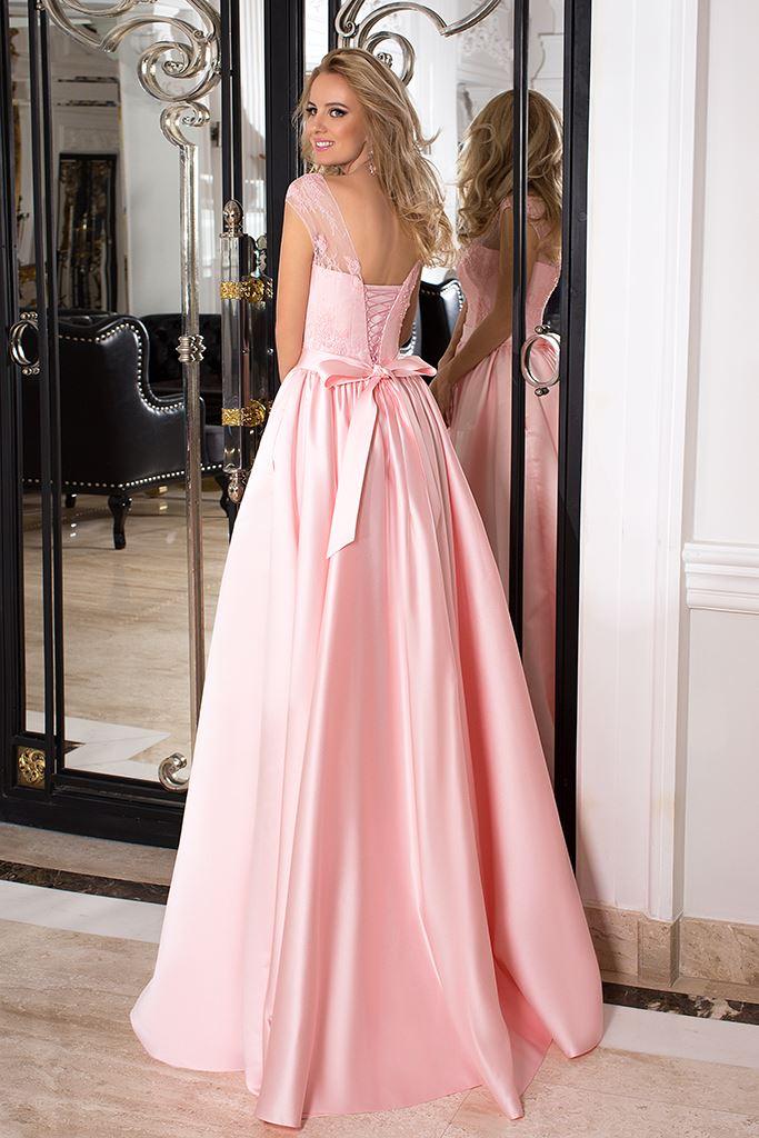 Sukienki Wieczorowe 993 Sylwetka  Balowa suknia   Kolor  Różowy  Dekolt  Dekolt w kształcie serca  Iluzja  Rękawy  Szerokie ramiączka  Flex  Bez trenu - foto 2