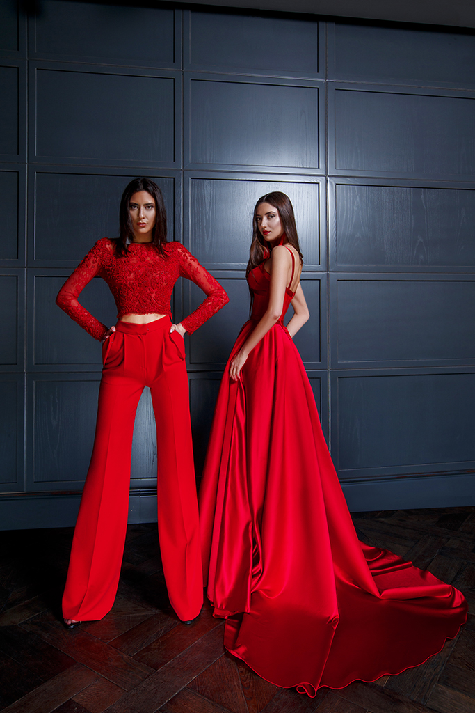 Evening Dresses 1440 Silhouette  A Line  Color  Red  Neckline  Sweetheart  Sleeves  Wide straps  Train  With train - foto 3