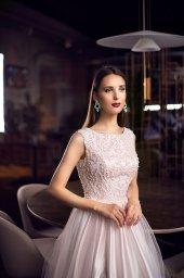 Evening Dresses 1123 Silhouette  A Line  Color  Pink  Neckline  Jewel  Sleeves  Wide straps  Train  No train - foto 4