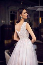 Evening Dresses 1123 Silhouette  A Line  Color  Pink  Neckline  Jewel  Sleeves  Wide straps  Train  No train - foto 3