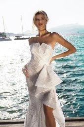 Wedding dresses Vickie Silhouette  Sheath  Color  Ivory-blush  Sleeves  Sleeveless  Train  With train - foto 2