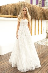 Wedding dresses Aria Silhouette  A Line  Color  Ivory  Train  With train - foto 3