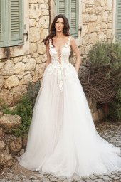 Wedding dresses Emilia Silhouette  A Line  Color  Ivory-blush  Neckline  Scoop  Sleeves  Strapless  Train  With train - foto 6