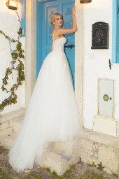 Wedding dresses Franceska Silhouette  A Line  Color  Ivory  Neckline  Sweetheart  Sleeves  Spaghetti Straps  Train  With train - foto 9