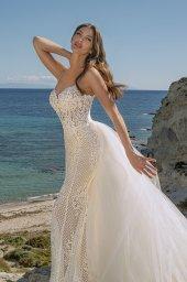 Wedding dresses Iman Silhouette  Fitted  Neckline  Straps  Train  Detachable train - foto 2