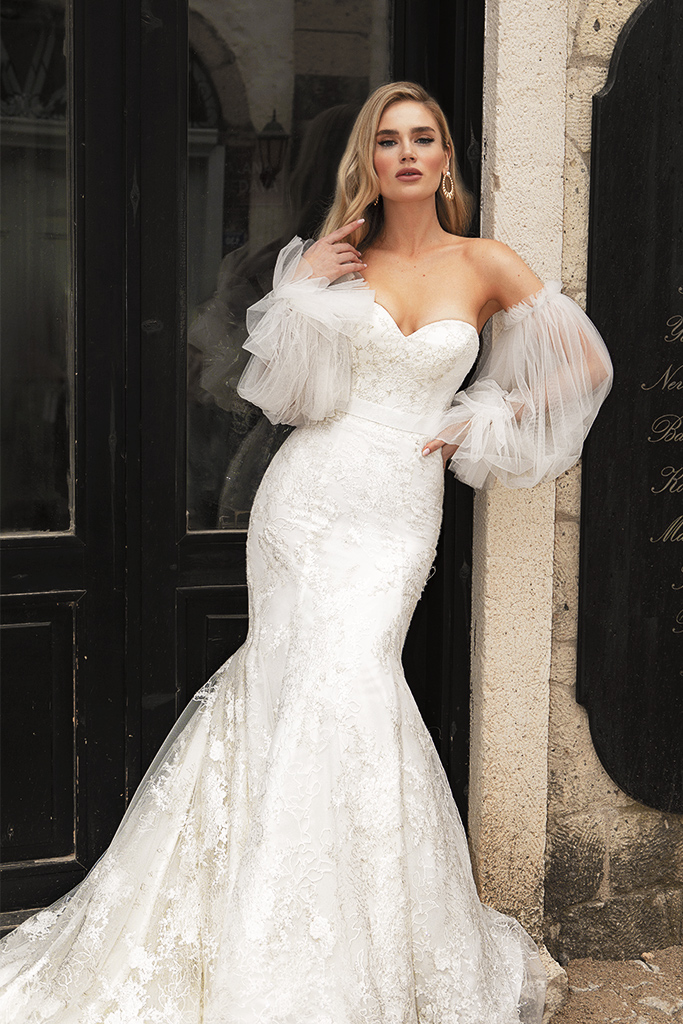 Wedding dresses Angelina Silhouette  Fitted  Neckline  Sweetheart  Sleeves  Sleeveless - foto 3