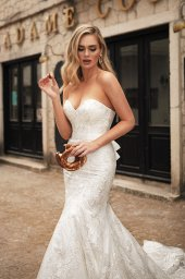 Wedding dresses Angelina Silhouette  Fitted  Neckline  Sweetheart  Sleeves  Sleeveless - foto 5