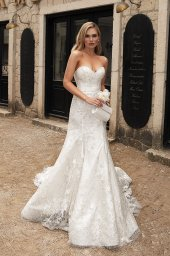 Wedding dresses Angelina Silhouette  Fitted  Neckline  Sweetheart  Sleeves  Sleeveless - foto 4
