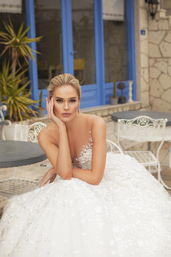 Wedding dresses Lia  Color  Ivory-blush - foto 3