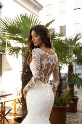 Wedding dress Montana Silhouette  Mermaid  Color  Ivory  Neckline  Sweetheart  Sleeves  Long Sleeves  Train  With train - foto 4