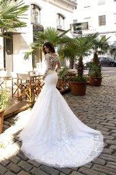 Wedding dress Montana Silhouette  Mermaid  Color  Ivory  Neckline  Sweetheart  Sleeves  Long Sleeves  Train  With train - foto 3