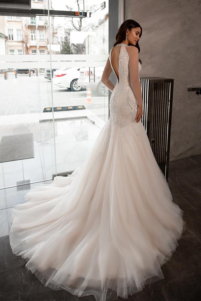 Wedding dress Nicol Silhouette  Mermaid  Color  Nude  Ivory  Neckline  Sweetheart  Sleeves  Sleeveless  Train  With train - foto 2