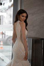 Wedding dress Nicol Silhouette  Mermaid  Color  Nude  Ivory  Neckline  Sweetheart  Sleeves  Sleeveless  Train  With train - foto 4