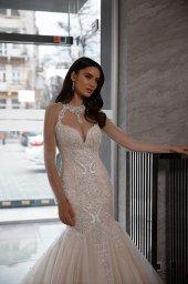 Wedding dress Nicol Silhouette  Mermaid  Color  Nude  Ivory  Neckline  Sweetheart  Sleeves  Sleeveless  Train  With train - foto 3
