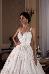Wedding dress Rosalinda Silhouette  Ball Gown  Color  Ivory  Neckline  Sweetheart  Sleeves  Sleeveless  Train  With train - foto 4