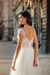 Wedding dress Scarlett Silhouette  A Line  Color  Nude  Ivory  Neckline  Sweetheart  Sleeves  Wide straps  Train  No train - foto 3