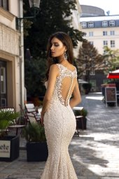 Wedding dress Tessa  Silhouette  Mermaid  Color  Nude  Ivory  Neckline  Sweetheart  Sleeves  Sleeveless  Train  With train - foto 2