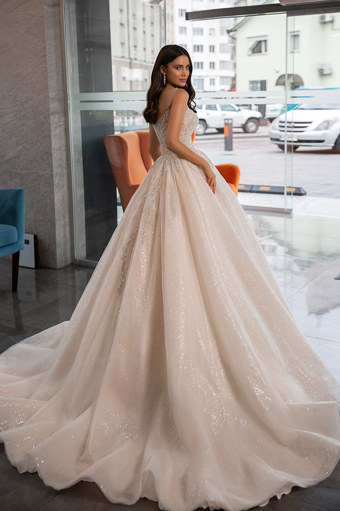 Wedding dress Cherry  Silhouette  A Line  Color  Ivory  Neckline  Sweetheart  Sleeves  Sleeveless  Train  No train - foto 4
