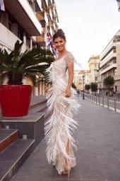 Wedding dress Texas Silhouette  Sheath  Color  Ivory  Neckline  Sweetheart  Sleeves  Sleeveless  Train  No train - foto 3