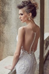 Wedding dress Melania Silhouette  Mermaid  Color  Blush  Ivory  Neckline  Sweetheart  Sleeves  Sleeveless  Train  With train - foto 2