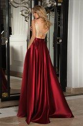 Evening dresses №1069 Silhouette  A-Silhouette  Farbe  Bordeux   Ausschnitt  rund  Ärmel  ärmellos  Schweif  Ohne Schleppe - foto 2