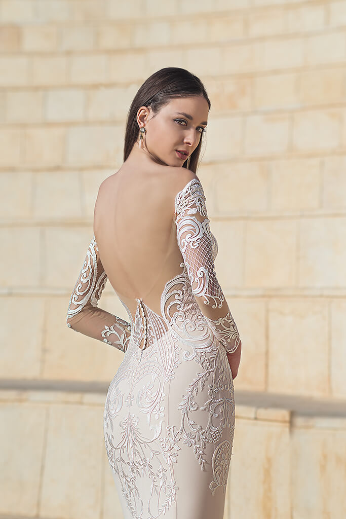 Wedding dresses Wallis Collection  Fresh Touch  Silhouette  Sheath  Color  Cappuccino  Ivory  Neckline  Sweetheart  Sleeves  Long Sleeves  Fitted  Train  With train - foto 7
