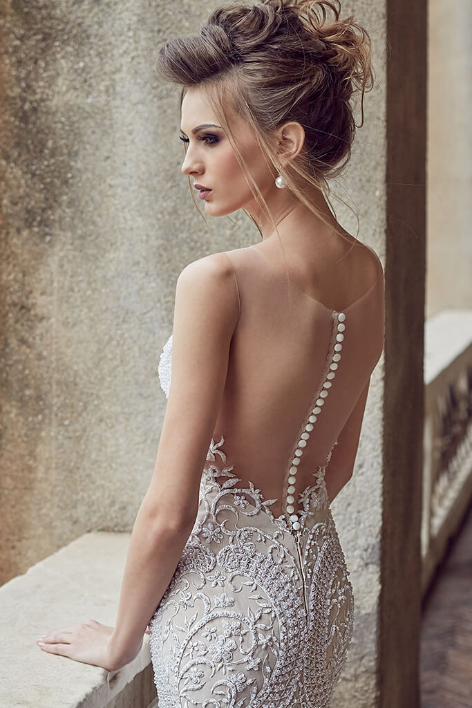 Wedding dresses Melania Collection  Supreme Classic  Silhouette  Mermaid  Color  Nude  Ivory  Neckline  Sweetheart  Sleeves  Sleeveless  Train  With train - foto 4