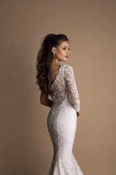 Wedding dresses Demi Collection  New Look  Silhouette  Fitted  Color  Ivory  Sleeves  One Shoulder  Train  With train - foto 3