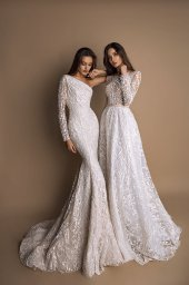 Wedding dresses Demi Collection  New Look  Silhouette  Fitted  Color  Ivory  Sleeves  One Shoulder  Train  With train - foto 5