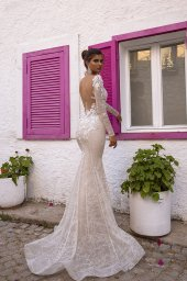 Wedding dresses Dali Collection  Highlighted Glamour  Silhouette  Fitted  Color  Silver  Ivory  Neckline  Sweetheart  Sleeves  Long Sleeves  Fitted  Train  No train - foto 2