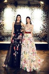 Evening Dresses 1376 Silhouette  A Line  Color  Multi  Neckline  Jewel  Sleeves  Wide straps  Illusion Straps  Train  No train - foto 4