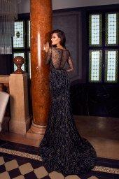 Abendkleider 1487 Silhouette  Tailliertes Kleid  Farbe  Black   Ausschnitt  Porträt (V-Ausschnitt)  Ärmel  lange Ärmel  talliert - foto 3