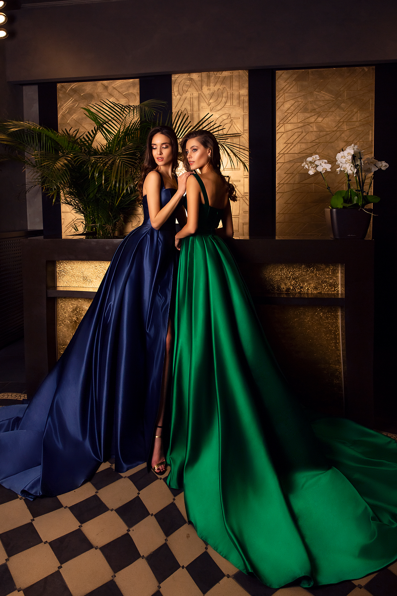 Evening Dresses 1607 Silhouette  A Line  Color  Blue  Green  Neckline  Straight  Sleeves  Wide straps - foto 3