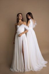 Wedding dresses Coco Collection  New Look  Silhouette  A Line  Color  Ivory  Neckline  Sweetheart  Sleeves  Spaghetti Straps  Train  With train - foto 2