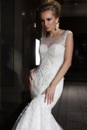 Wedding dresses Anrietta Collection  Supreme Classic  Silhouette  Mermaid  Color  Ivory  Neckline  Sweetheart  Illusion  Sleeves  Wide straps  Train  With train - foto 2