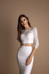 Wedding dresses Loren-1 Collection  New Look  Silhouette  Mermaid  Color  Ivory  Neckline  Sweetheart  Jewel  Sleeves  Long Sleeves  Fitted  Train  With train - foto 3