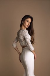 Wedding dresses Loren-1 Collection  New Look  Silhouette  Mermaid  Color  Ivory  Neckline  Sweetheart  Jewel  Sleeves  Long Sleeves  Fitted  Train  With train - foto 5