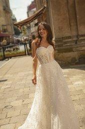 Suknie ślubne Amber Kolekcja  City Passion  Sylwetka  Balowa suknia   Kolor  Kremowy  Dekolt  Dekolt w kształcie serca  Rękawy  Szerokie ramiączka  Opuszczony  Flex  Z trenem - foto 3