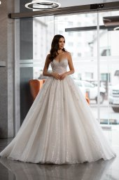 Wedding dresses Cherry Collection  Gloss  Silhouette  Ball Gown  Color  Blush  Ivory  Neckline  Sweetheart  Sleeves  Spaghetti Straps  Train  With train - foto 2