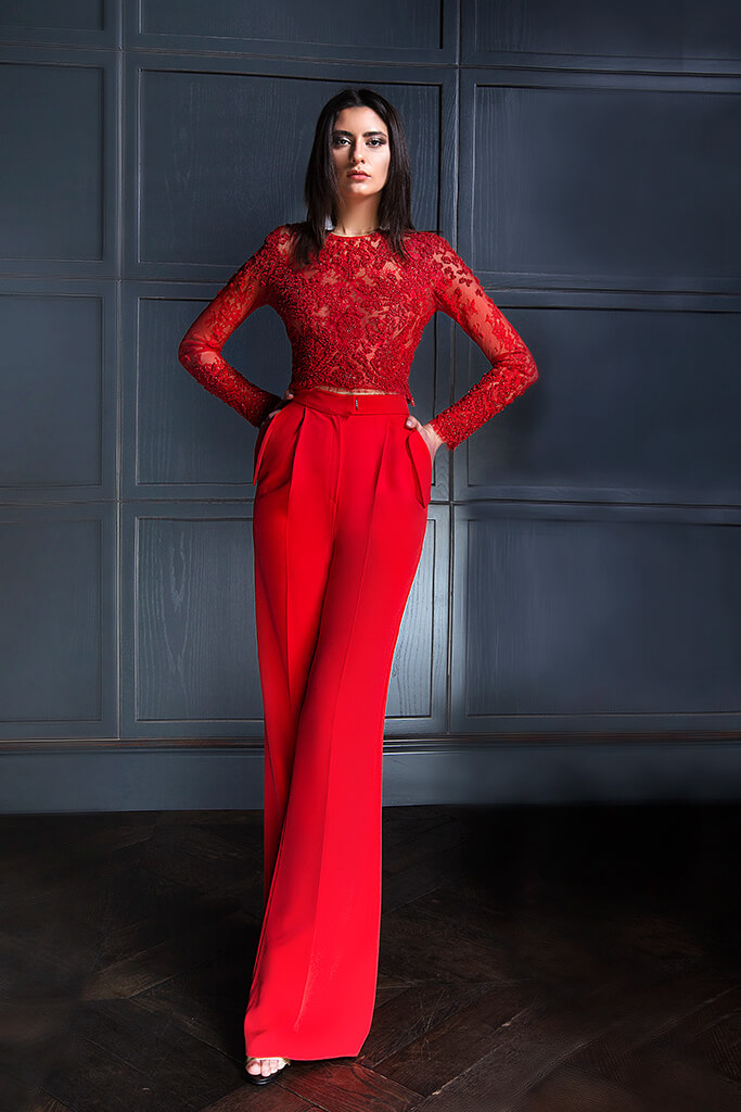 Evening Dresses 1364 Silhouette  Sheath  Color  Red  Neckline  Bateau (Boat Neck)  Sleeves  Long Sleeves  Fitted  Train  No train