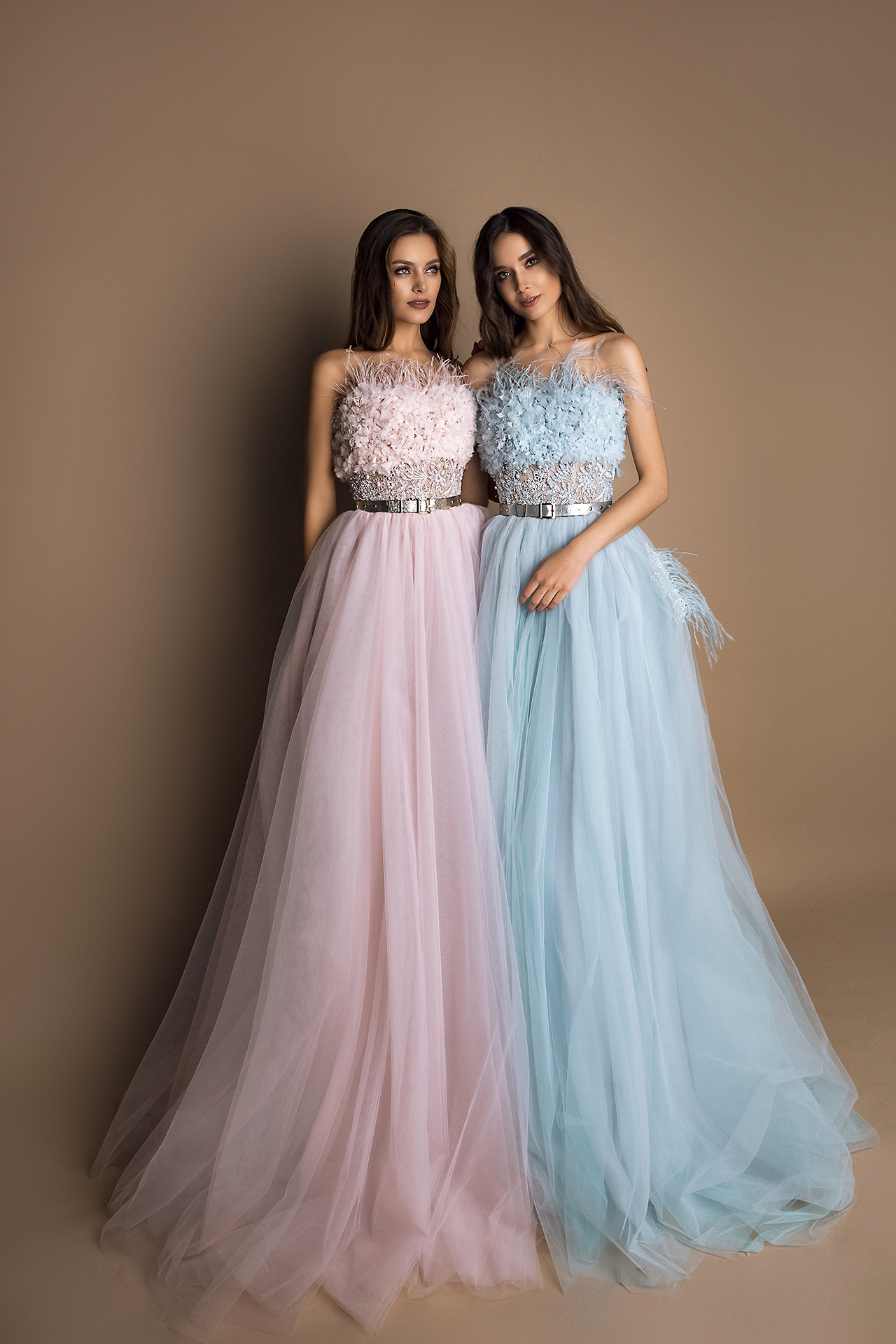 Evening Dresses 1543 Silhouette  A Line  Color  Pink  Blue  Neckline  Straight  Sleeves  Sleeveless  Train  No train