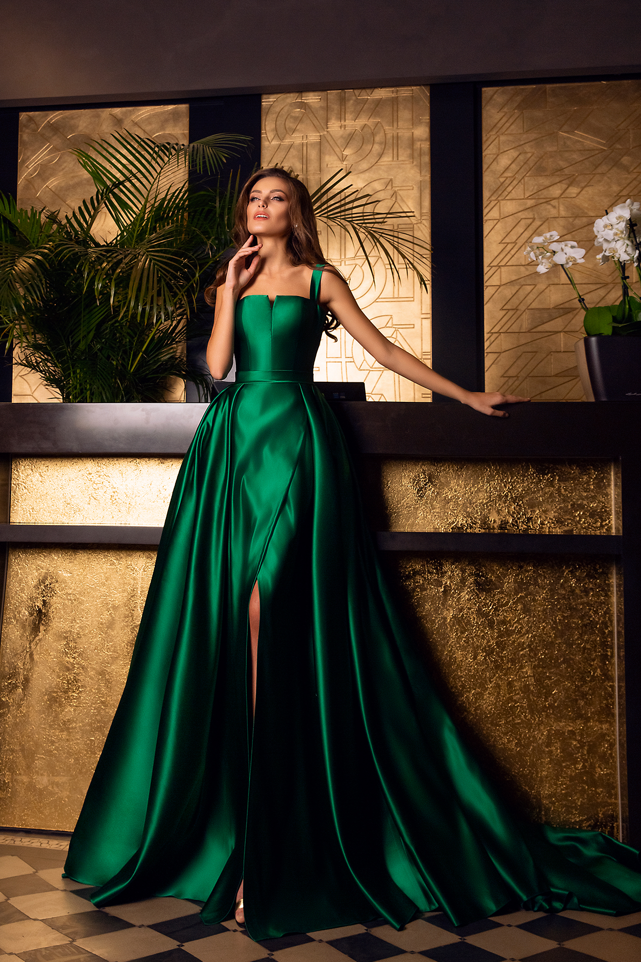 Evening Dresses 1607 Silhouette  A Line  Color  Blue  Green  Neckline  Straight  Sleeves  Wide straps