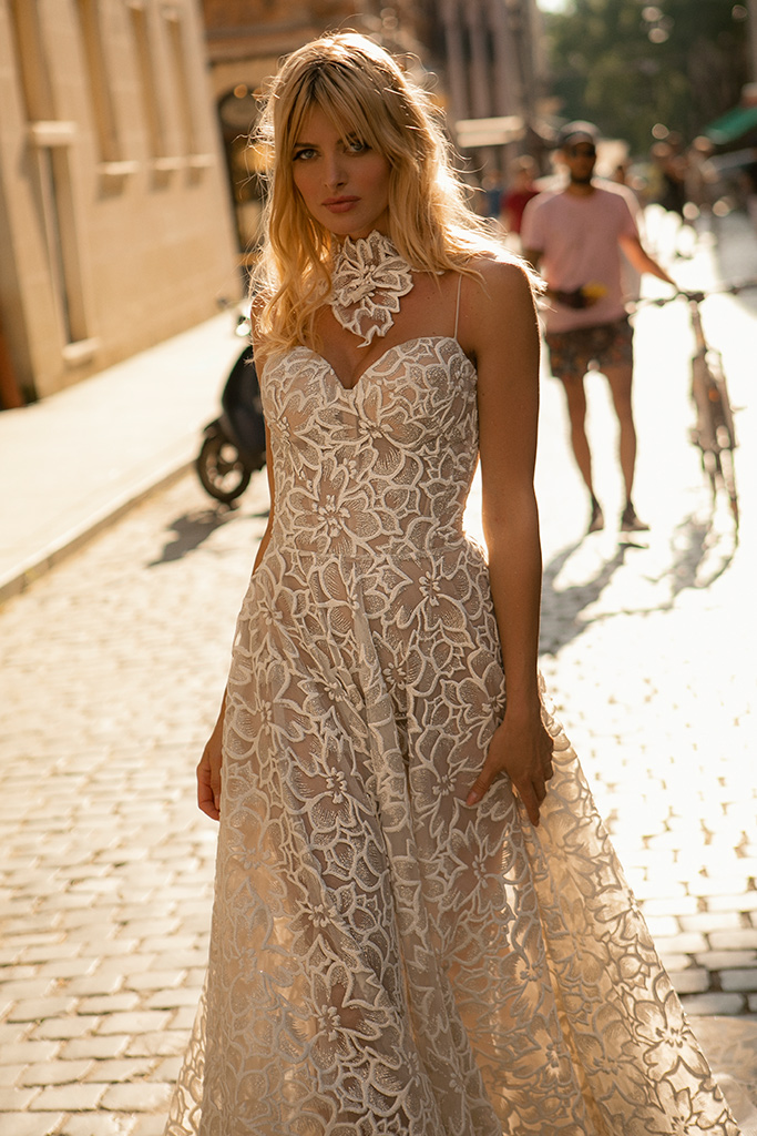 Wedding dresses Donna Collection  City Passion  Silhouette  A Line  Color  Silver  Ivory  Neckline  Sweetheart  Sleeves  Spaghetti Straps  Train  With train