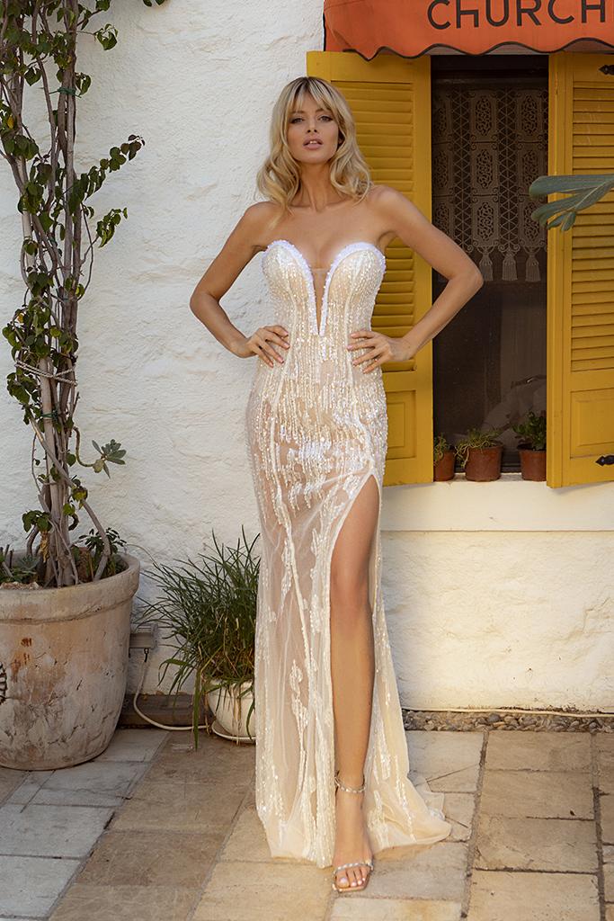 Wedding dresses Ruth-1 Color  Ivory-blush