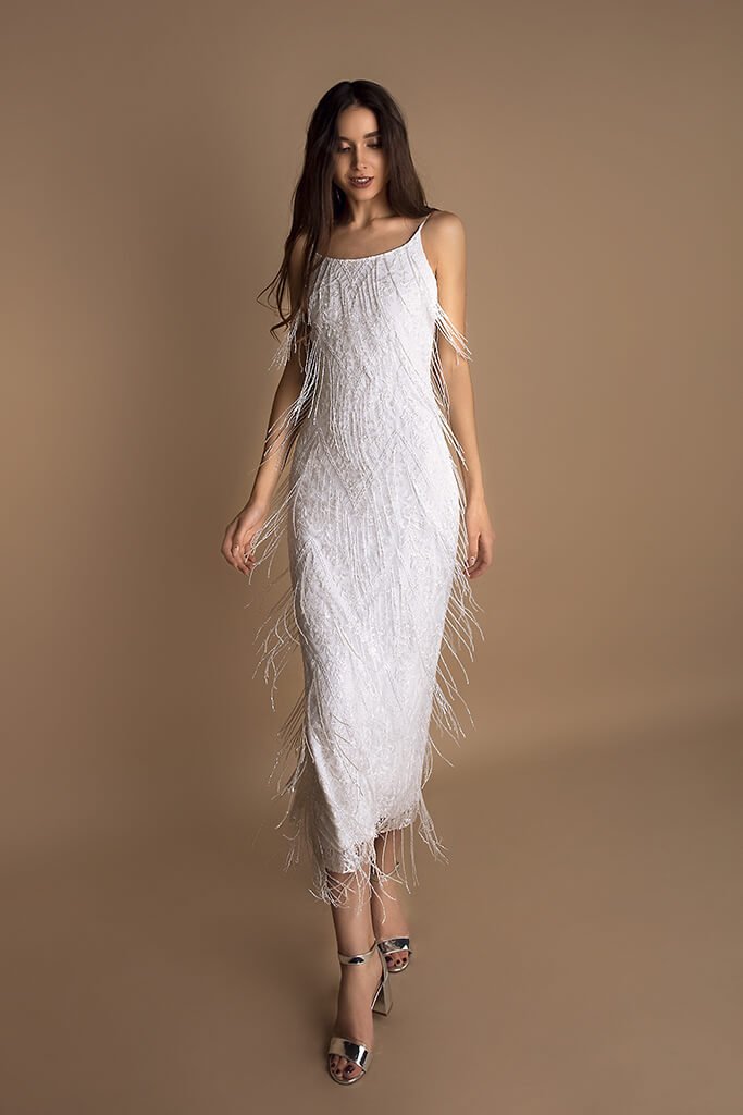 Wedding dress Myrtle Color  Ivory  Neckline  Straps  Sleeves  Spaghetti Straps  Train  No train