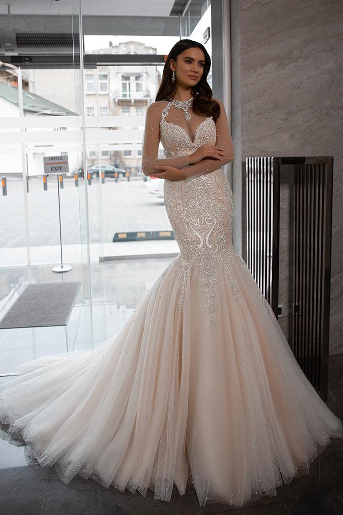 Wedding dress Nicol Silhouette  Mermaid  Color  Nude  Ivory  Neckline  Sweetheart  Sleeves  Sleeveless  Train  With train