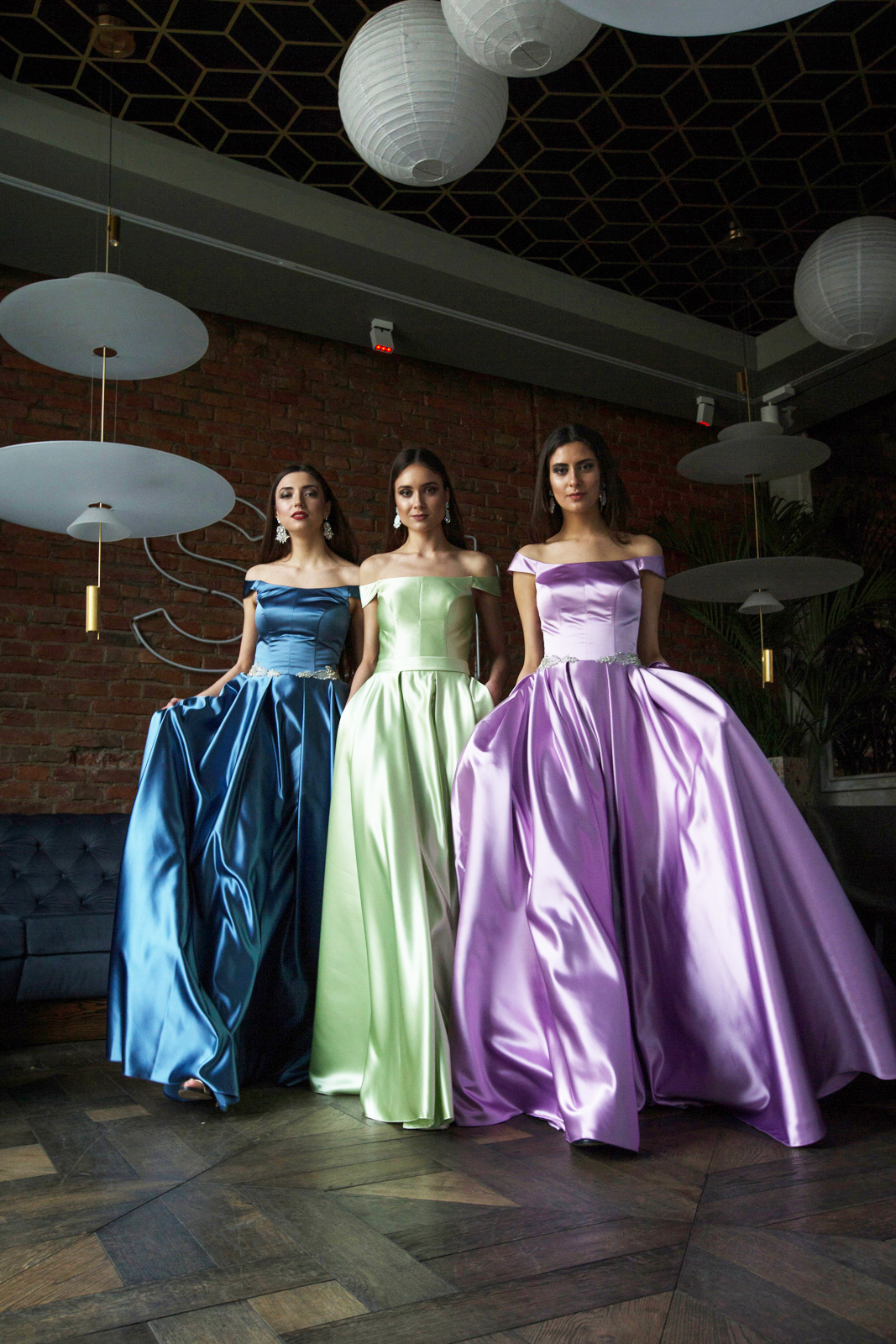 Evening gowns 1418-1 violet